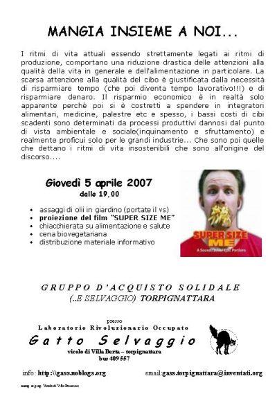 locandina iniziativa del 5 aprile